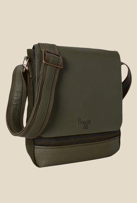 Buy Baggit Hawk Parina Green Synthetic Sling Bag Online At Best Price    Tata CLiQ ea0fc8513f72a