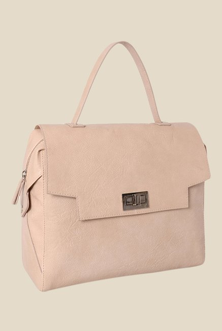 Baggit Semine Denon Beige Synthetic Handbag