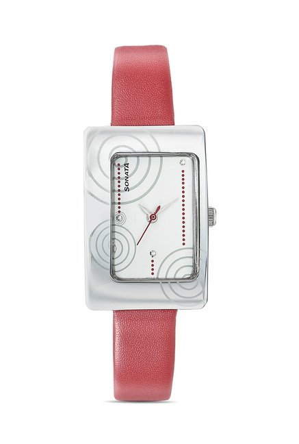 Sonata 8087SL01 Everyday Analog Watch for Women