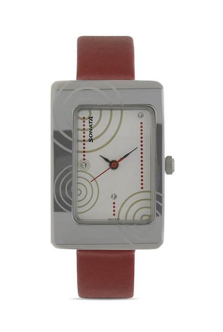 Sonata 8087SL02 Everyday Analog Watch for Women