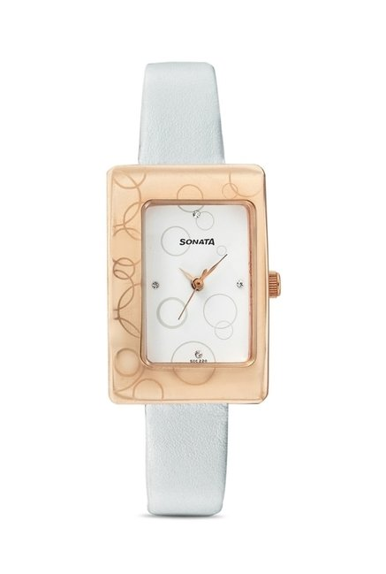 Sonata 8087WL01 Everyday Analog Watch for Women