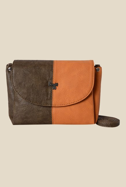 Buy Baggit Tracker Forestdew Brown Synthetic Sling Bag Online At ...