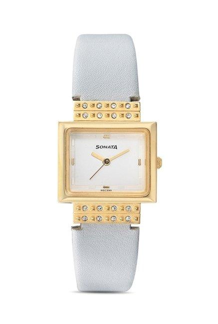 Sonata 8089YL01 Everyday Analog Watch for Women