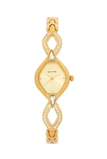 Sonata 8063YM04 Sona Sitara Analog Watch for Women