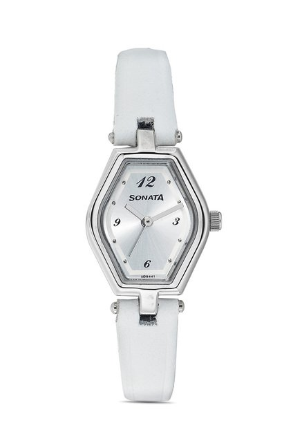 Sonata 8082SL01 SFAL Analog Watch for Women