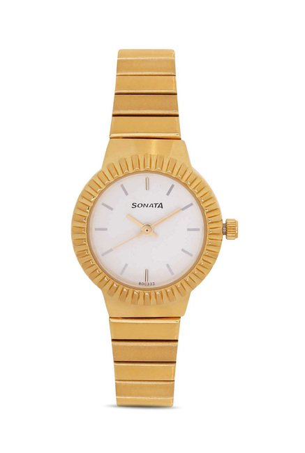 Sonata 8084YM01 Everyday Analog Watch for Women
