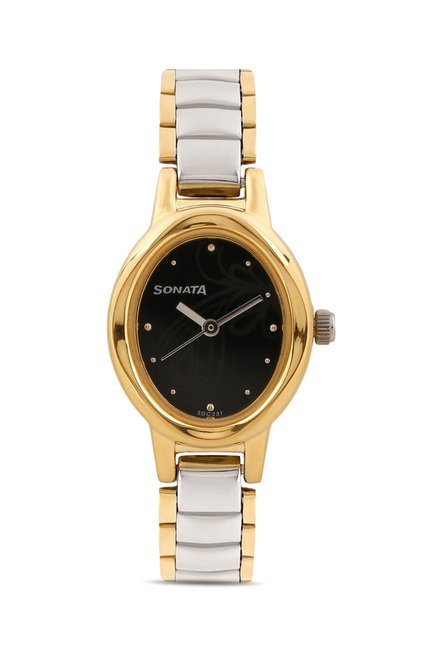 Sonata 8085BM01 Everyday Analog Watch for Women
