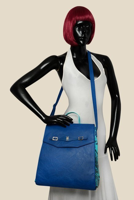 Baggit Swing Bindas Blue Synthetic Sling Bag