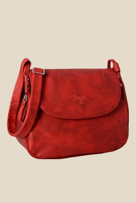 22945a8a5 Buy Baggit Sherry n Seafoam Red Synthetic Sling Bag Online At Best Price    Tata CLiQ