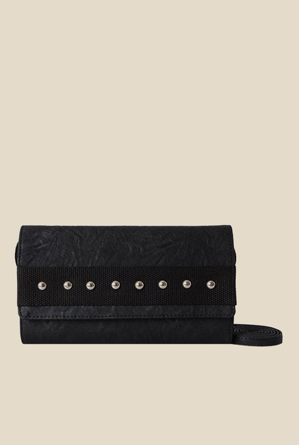 Baggit Sandra Upton Black Synthetic Wallet