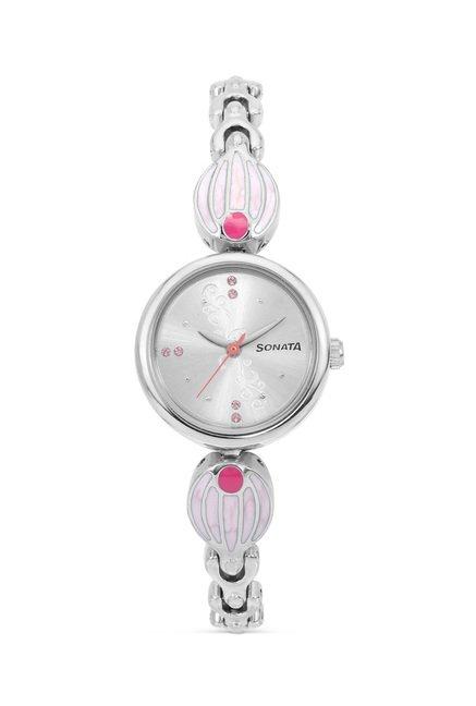 Sonata 8133SM01 Glamors Analog Watch for Women