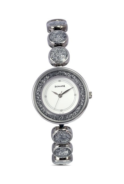 Sonata 8136SM03 Glamors Analog Watch for Women