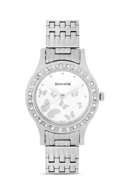 Sonata 8123SM01 Party Analog Watch for Women