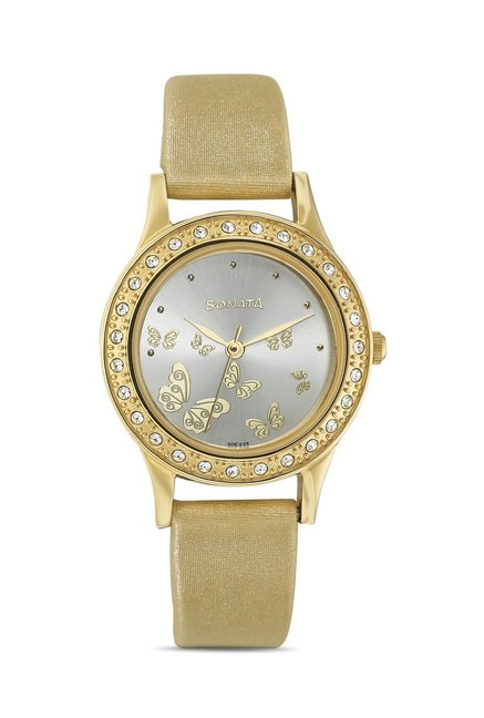 Sonata 8123YL01 Party Analog Watch for Women