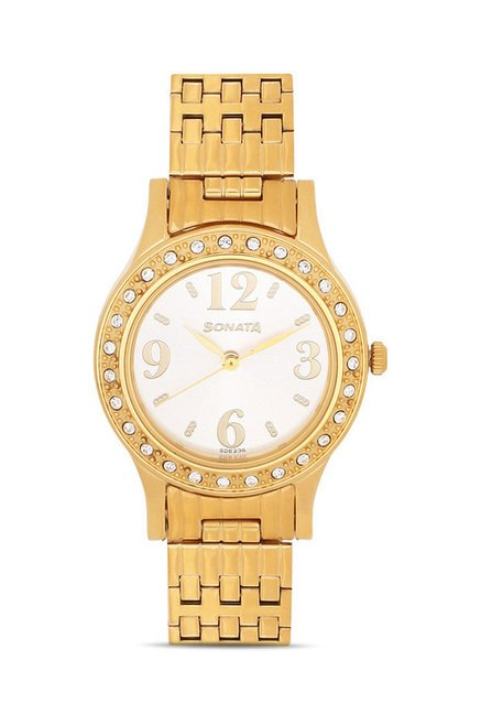 Sonata 8123YM01 Party Analog Watch for Women
