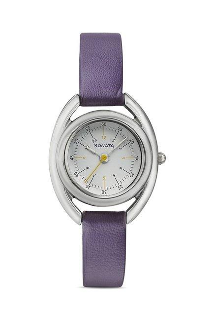 Sonata Analog White Dial Women's Watch, 8960SL02