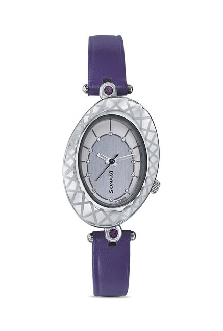 Sonata 8125SL01 Glitterati 2 Analog Watch for Women
