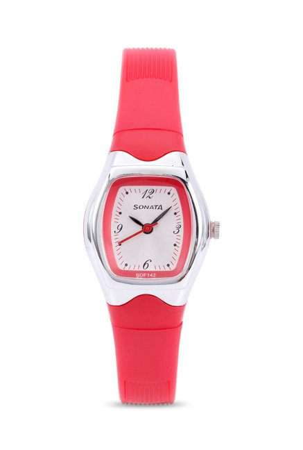 Sonata 8989PP05J Upgrades Analog Watch for Women