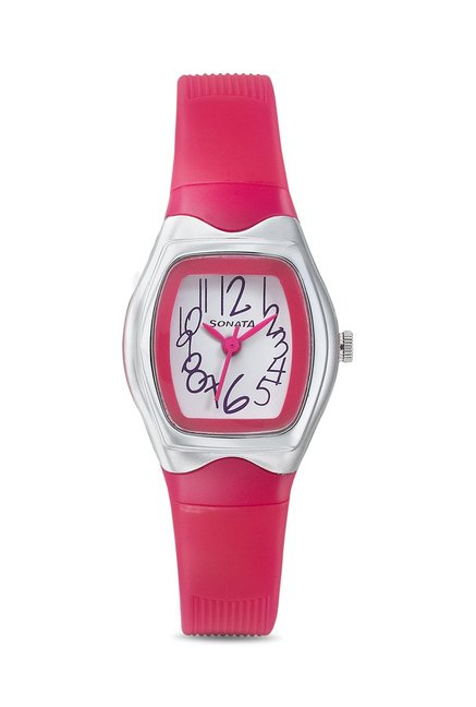 Sonata 8989PP06J Upgrades Analog Watch for Women