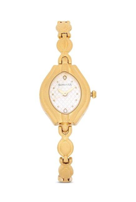Sonata 87009YM01 Wedding Analog Watch for Women
