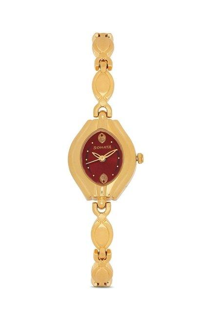 Sonata 87009YM03 Wedding Analog Watch for Women