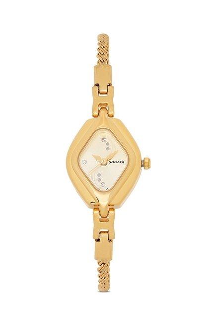 Sonata 87010YM02 Wedding Analog Watch for Women