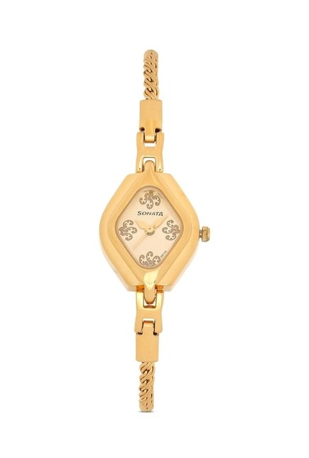 Sonata 87010YM03 Wedding Analog Watch for Women