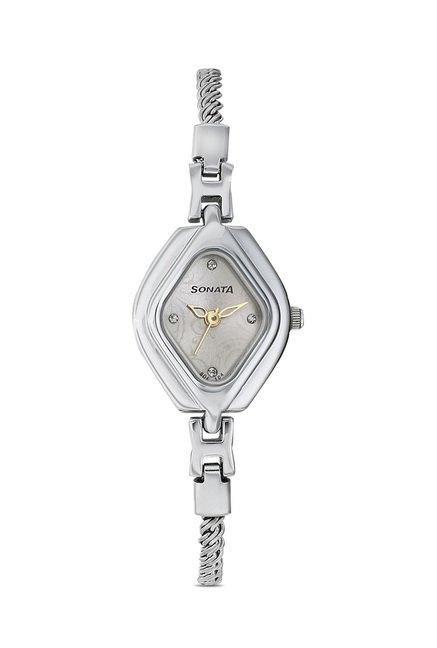 Sonata 87010SM01 Wedding Analog Watch for Women