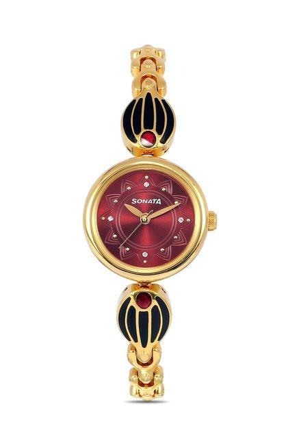 Sonata 8133YM03 Glamors Analog Watch for Women