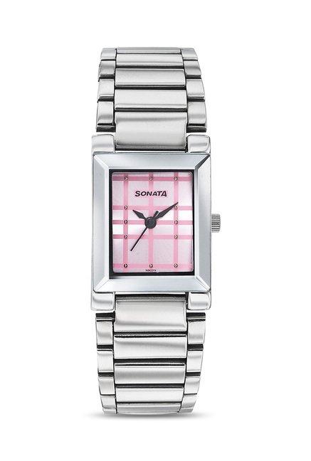 Sonata 8980SM01 Eva Analog Watch for Women