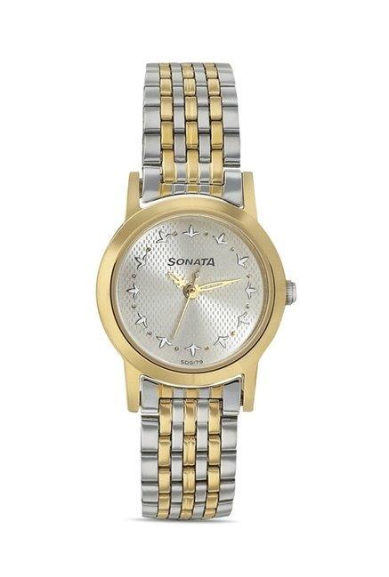 Sonata 8137BM01 Imperial Analog Watch for Women