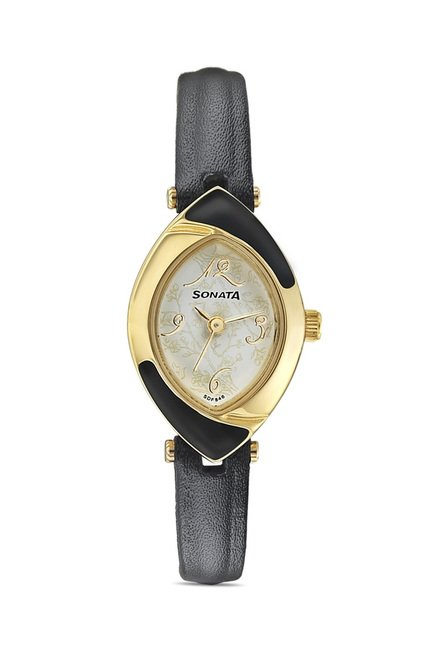 Sonata Elite Analog White Dial Women's Watch, 8069YL02
