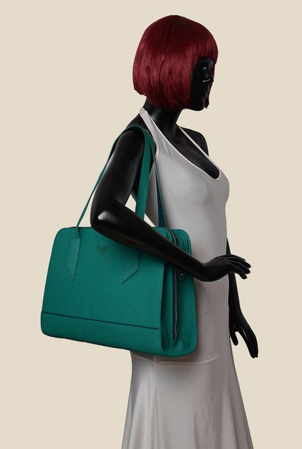 Baggit Elena Charles Teal Synthetic Shoulder Bag