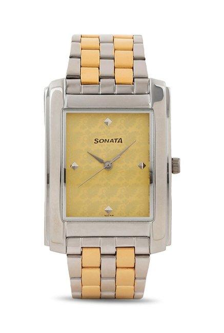 Sonata 7953BM01 Essen Analog Watch
