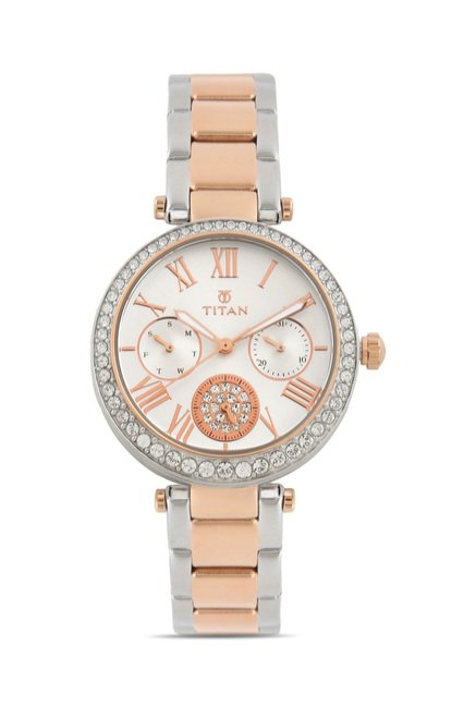 Titan 95023KM01J Analog Watch for Women