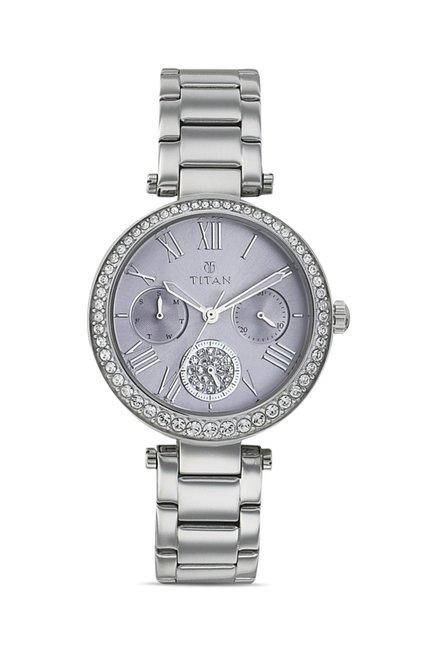 Titan 95023SM02J Analog Watch for Women