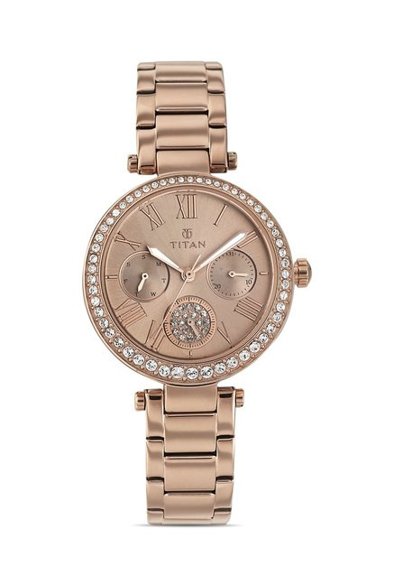Titan 95023WM01J Analog Watch for Women