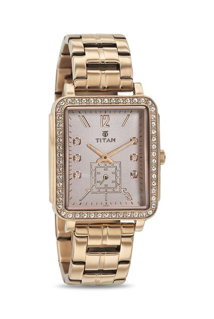 Titan 95042WM01J Analog Watch for Women