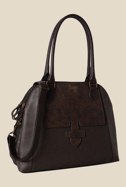 Baggit Glide Goblin Brown Synthetic Shoulder Bag