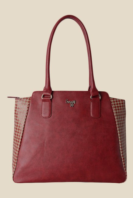 Baggit Sareta Dum Maroon Synthetic Shoulder Bag