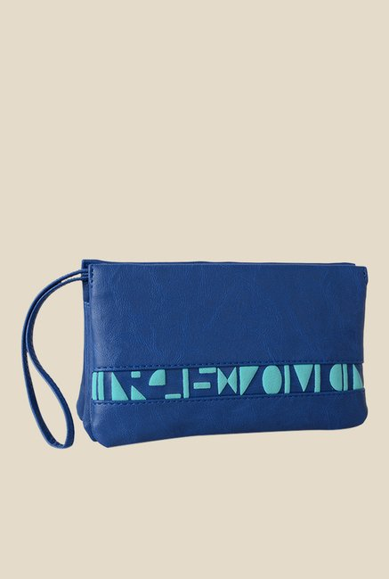 Baggit Itsy Bindas Blue Synthetic Pouch