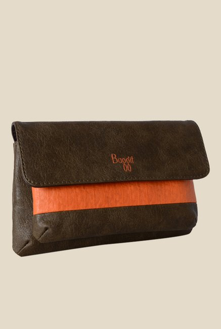 Baggit Stacy Forestdew Brown Synthetic Pouch