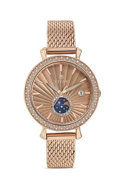 Titan 95015WM01J Analog Watch for Women