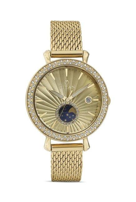 Titan 95015YM01J Analog Watch for Women