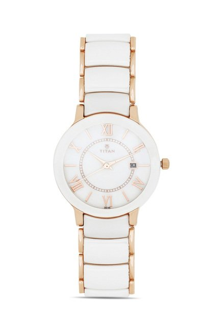 Titan 95016WD02J Analog Watch for Women