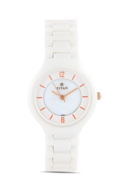 Titan 95018KC01J Analog Watch for Women