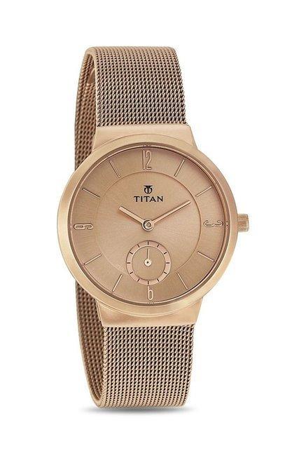 Titan 95033WM01J Work Wear Analog Watch for Women