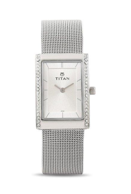 Titan 95034SM01J Work Wear Analog Watch for Women