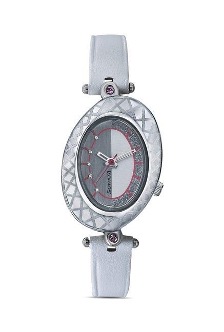 Sonata 8125SL02 Glitterati 2 Analog Watch for Women