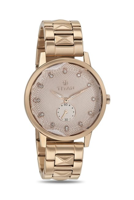 Titan 95037WM01J Analog Watch for Women